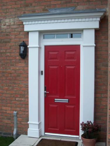 Edwardian door surrounds at apc architectural mouldings - Decorative exterior door pediments ...